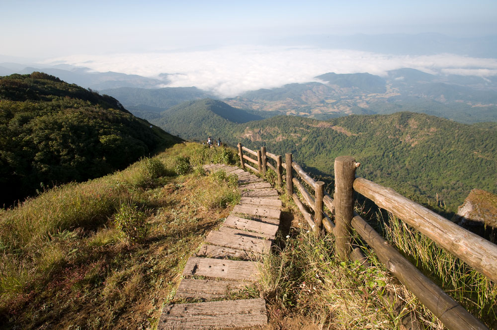 Beautiful Viewpoint at Doi Inthanon National Park in Chiang Mai Province, Thailand