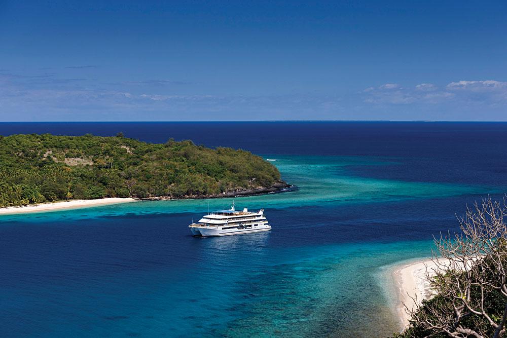 Blue Lagoon Cruise Aerial View, Fiji