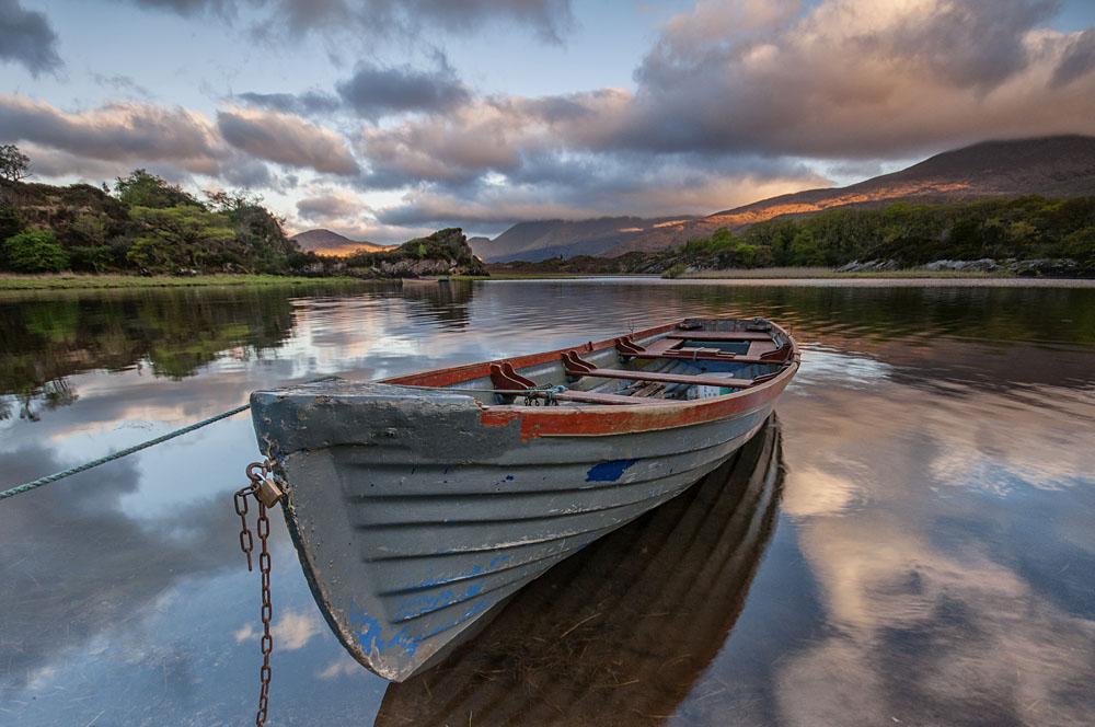 Boat at Killarney Lake in County Kerry, Ireland