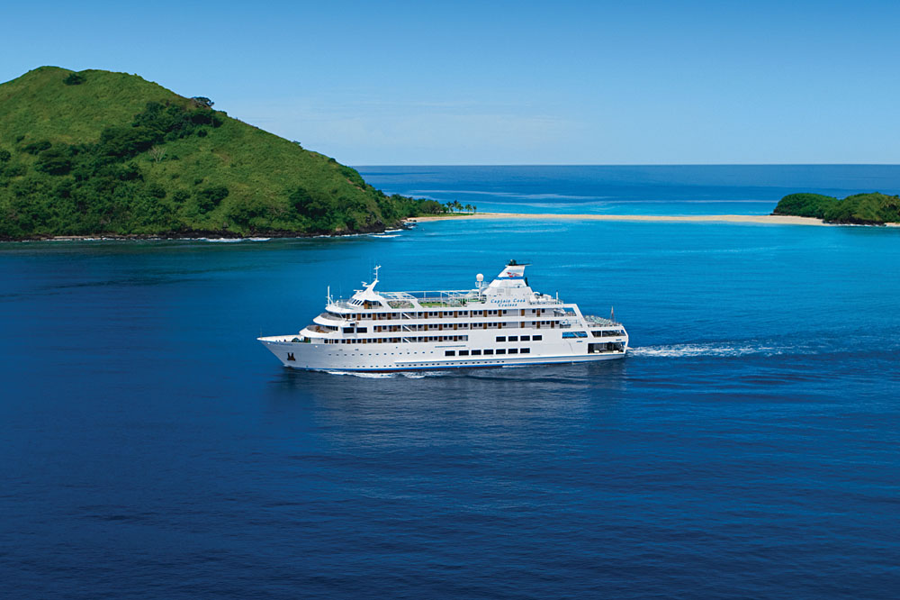 Captain Cook Cruise Vessel Aerial View, Fiji