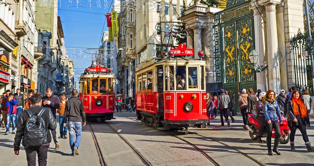 Istiklal Boulevard - Istanbul, Turkey - turkey vacation