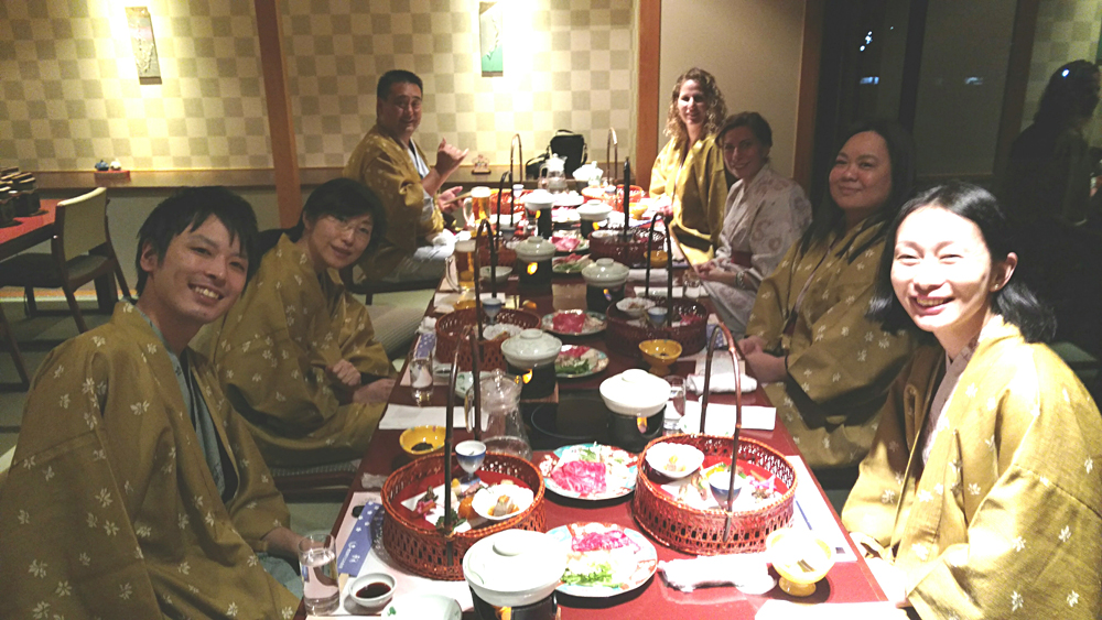 John McGonigle in Japan - Enjoying a Traditional Kaiseki Dinner at Kinugawa Onsen, Japan