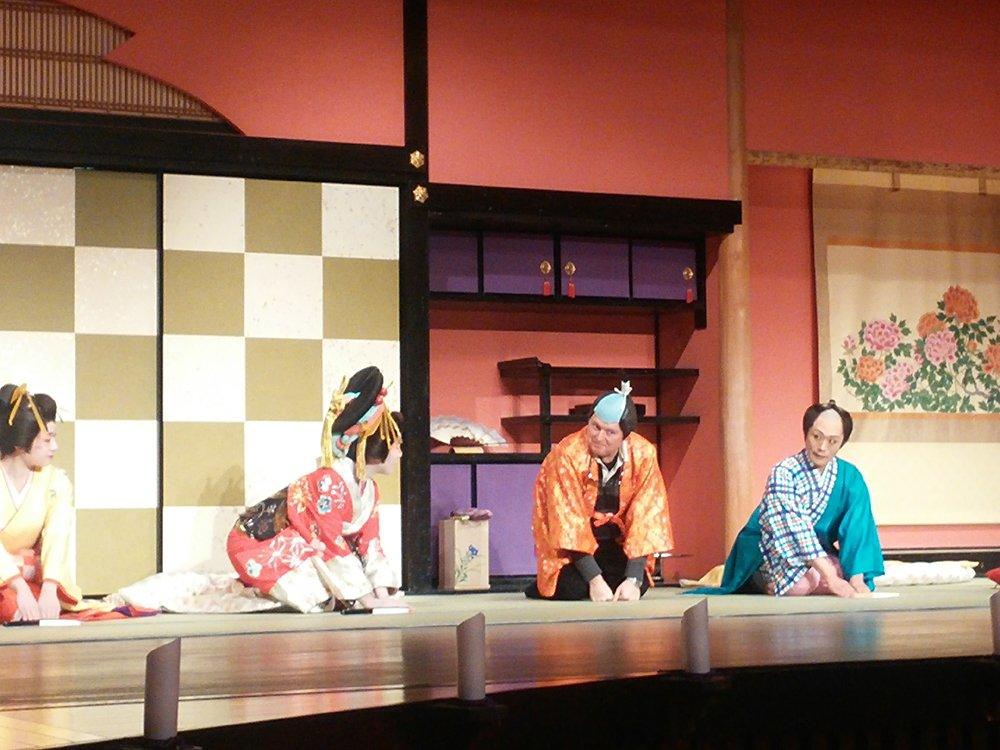 John McGonigle in Japan - Taking Part in a Traditional Japanese Theatre Production at Edo Wonderland, Japan