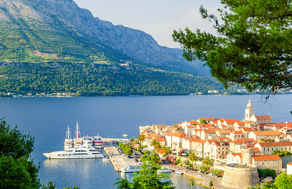 Old Town on Korcula Island in Dalmatia, Croatia