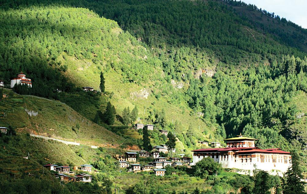 Rinpung Dzong Monastery and Fortress, Paro, Bhutan