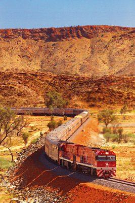 The Ghan Train, Outback, Australia