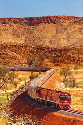 The Ghan Train, Outback, Australia