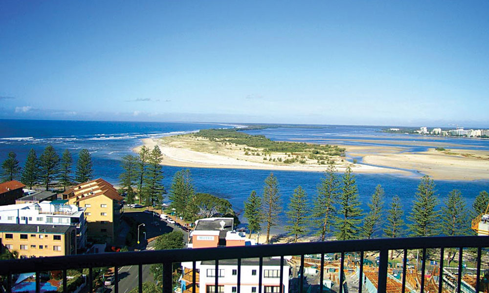 View from a Balcony at Centrepoint Apartments on the Sunshine Coast in Queensland, Australia