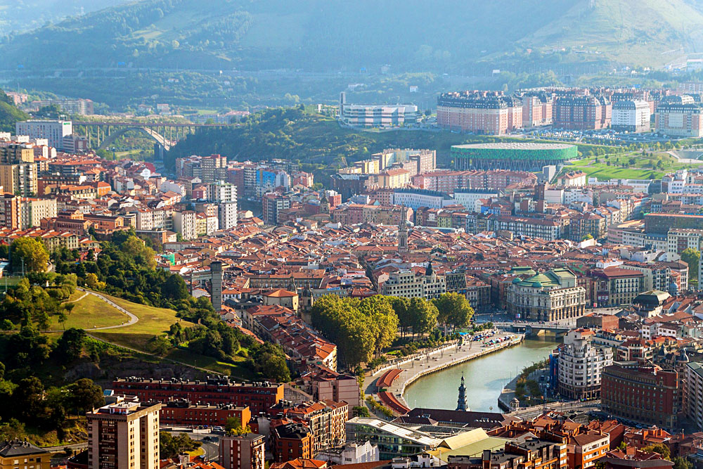 Aerial View of Bilbao from Artxanda, Spain