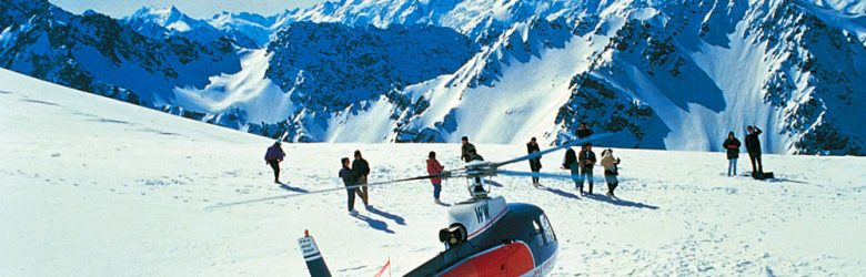 Aerial View of Glacier Helicopter, New Zealand