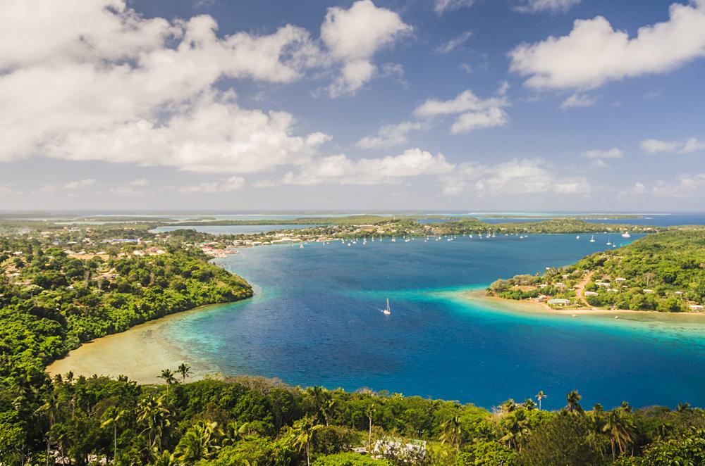 Aerial View of Tonga