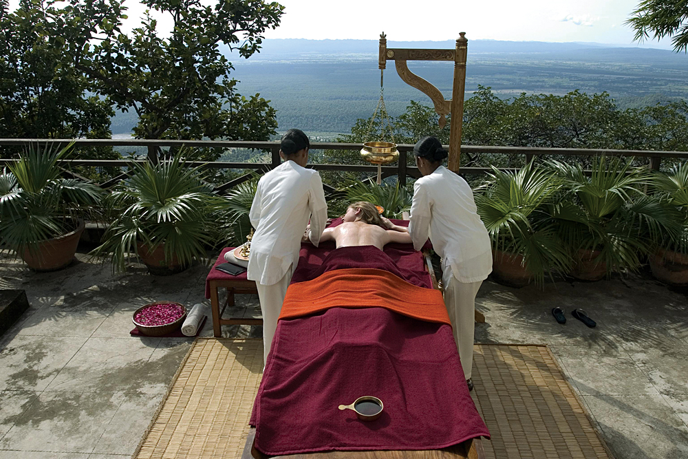 Ayurvedic Massage at the Ananda in the Himalayas, India