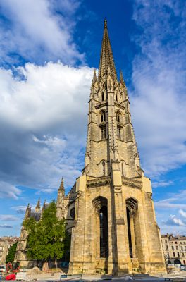Belltower at Basilica of St. Michael, Bordeaux, France