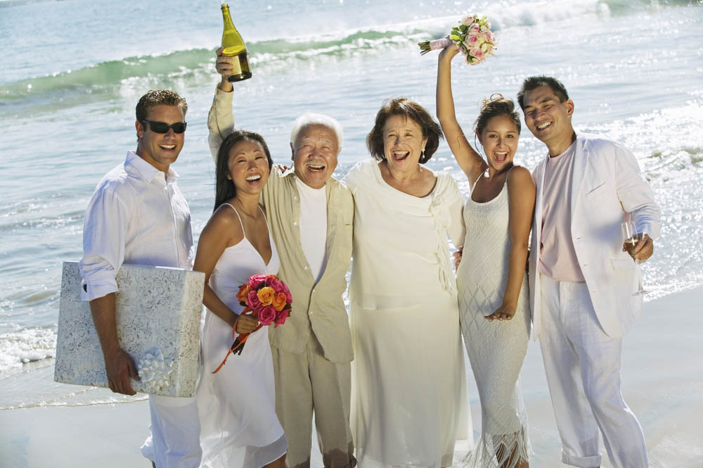 Celebrating Family on Wedding Day - Group Travel