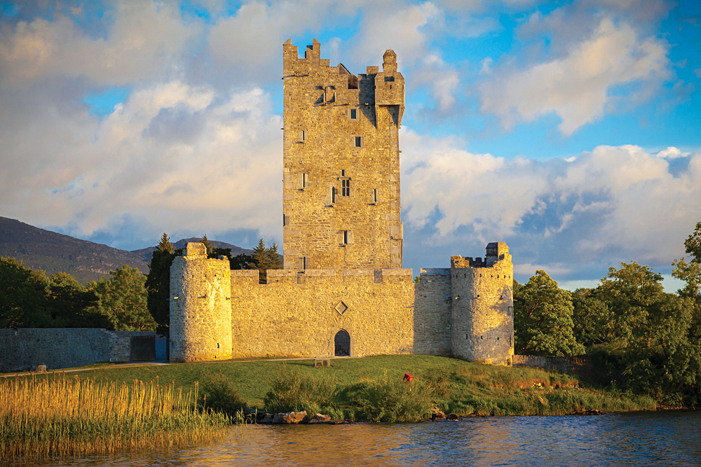 Derelict Ruins of Ross Castle on the Shores of Lough Leane in Killarney, Ring of Kerry, Ireland
