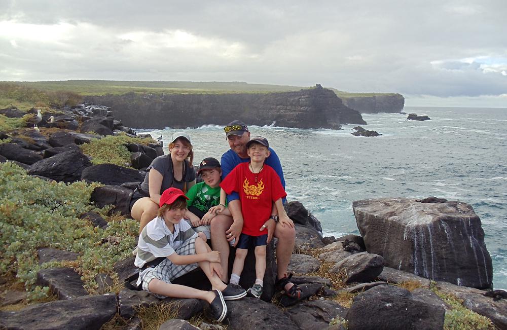 Don Forster - Family in Galapagos Islands, Ecuador