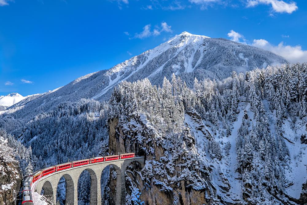 Glacier Express Train, Switzerland
