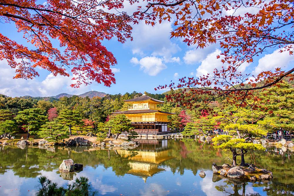 Golden Pavilion Kinkakuji Temple in Kyoto, Japan