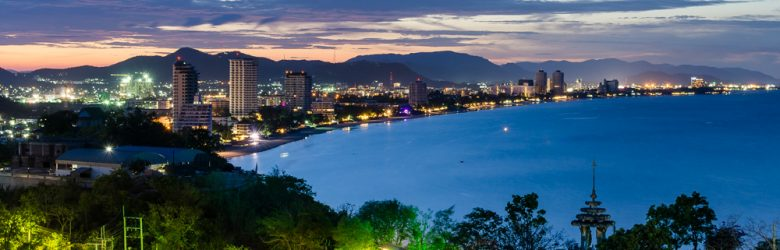 Hua Hin Cityscape at Twilight, Thailand