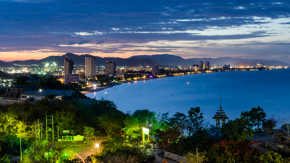 Hua Hin Cityscape at Twilight, Thailand