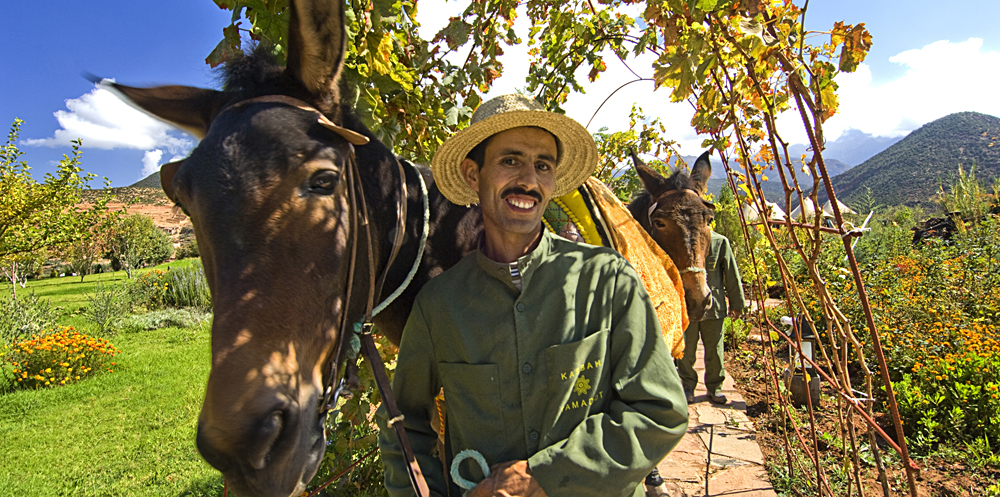 Kasbah Tamadot Hotel - Mule Rides, Atlas Mountains, Marrakesh, Morocco