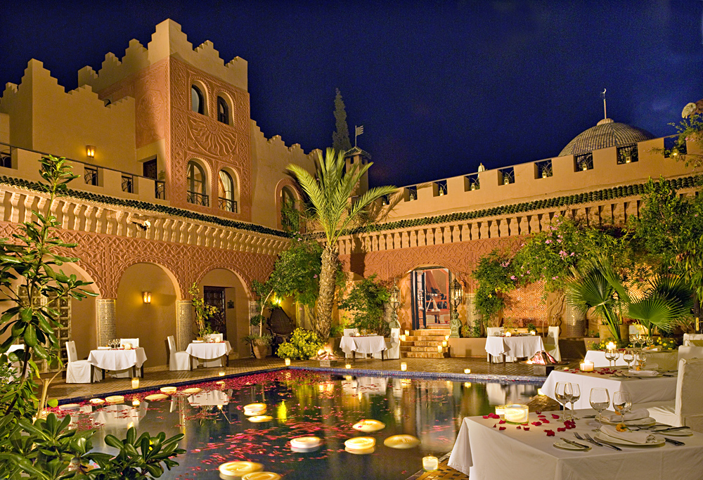 Kasbah Tamadot Hotel - Reflecting Pool, Atlas Mountains, Marrakesh, Morocco