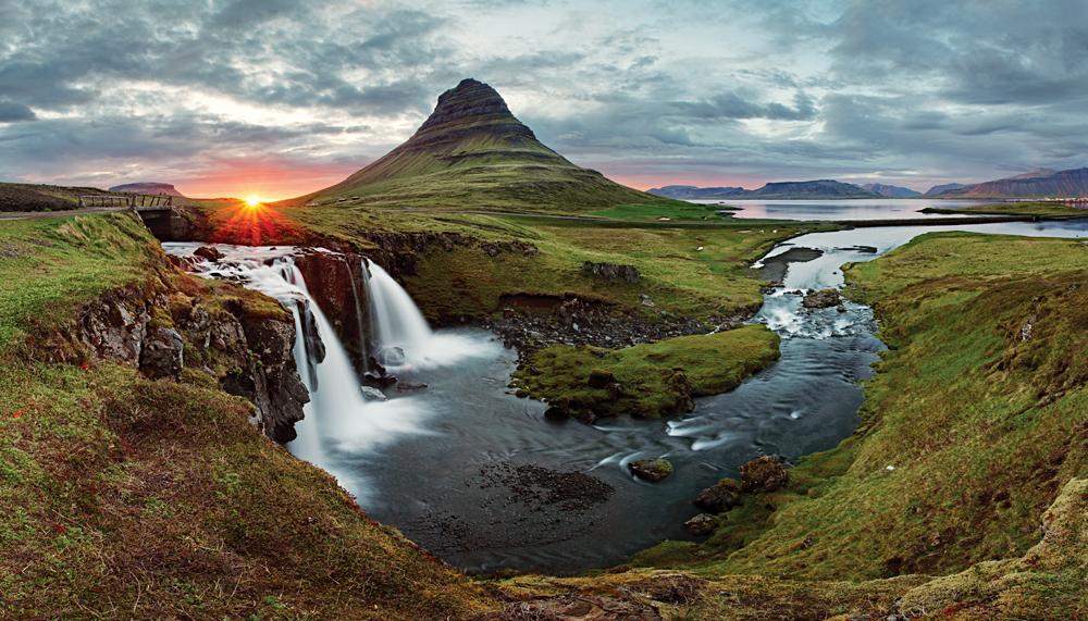 Kirkjufell Landscape in Spring, Iceland