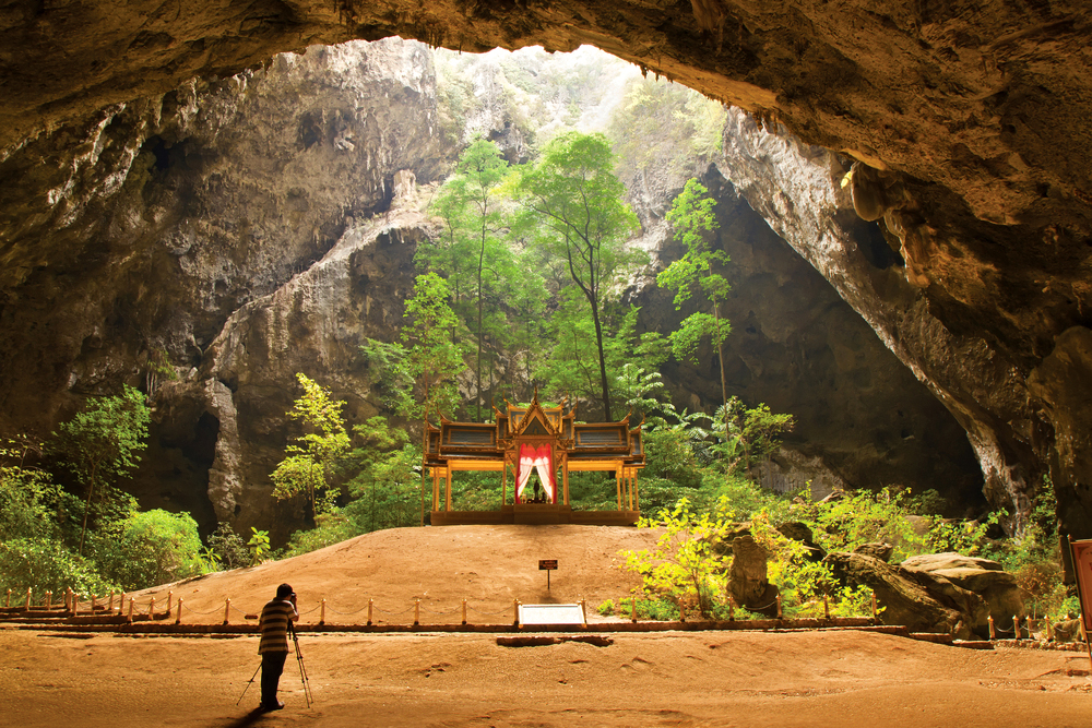 Kuha Karuhas Pavillon in Phraya Nakhorn Cave in Khao Sam Roi Yot National Park, Hua Hin, Thailand