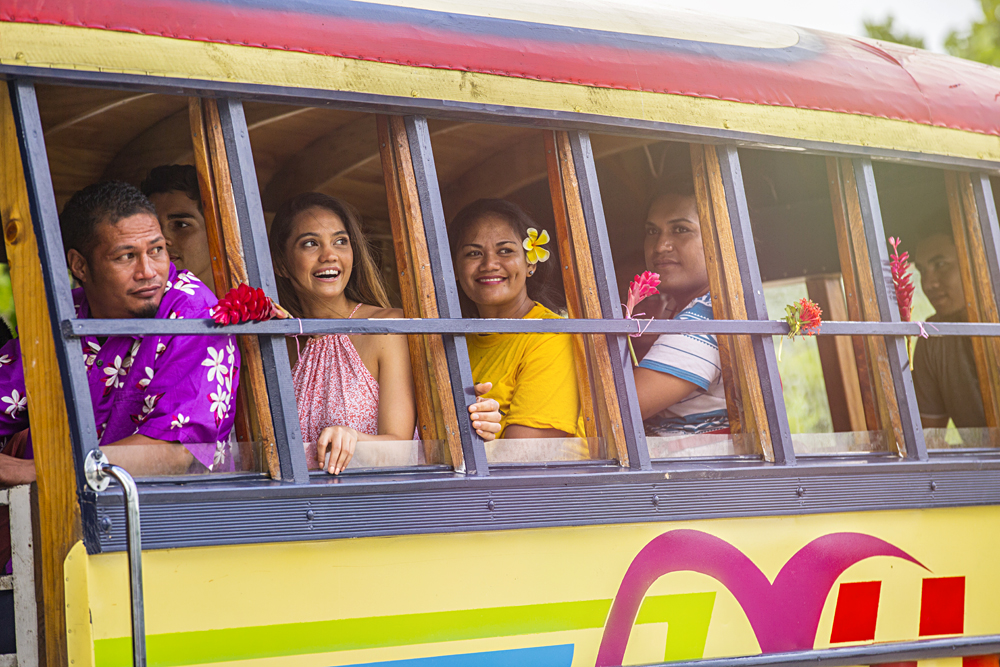 Local Bus in Savaii, Samoa