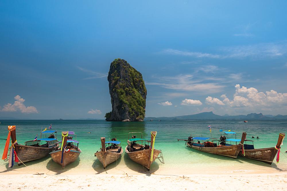 Long Tailed Boats, Krabi, Thailand (Image courtesy of Tourism Thailand)