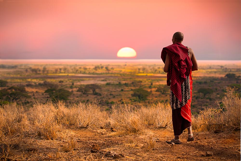 Masai (Maasai) Man in the Seregenti, Tanzania
