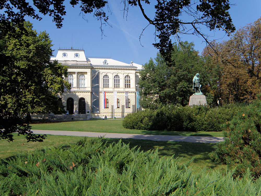 Museum Building in Ljubljana where the National Museum of Slovenia and the Slovenian Museum of Natural History are Located in Tivoli Park, Slovenia