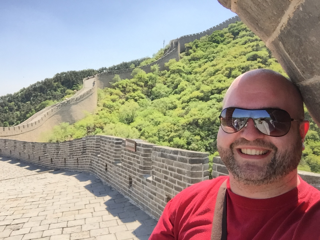 Steve Perkins at Great Wall of China