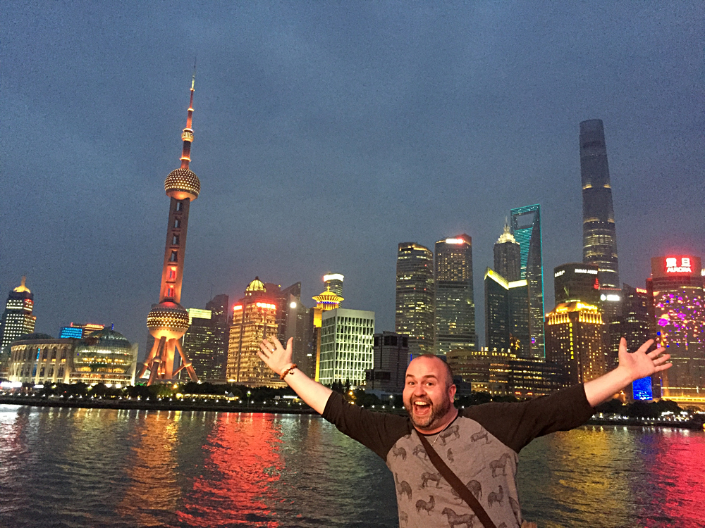 Steve Perkins in Shanghai, China