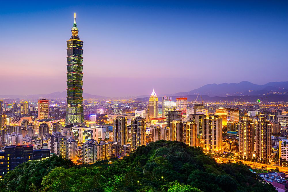 Taipei City Skyline at Twilight, Taiwan