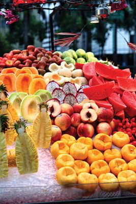 Taiwan Market with Fruit Variety