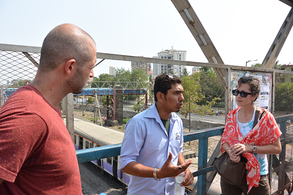Tim Haig - Our Guide Briefing Us Before Beginning the Dharavi Tour, Mumbai, India