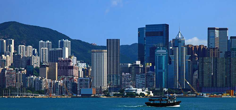 View of the Sheung Wan District, Hong Kong