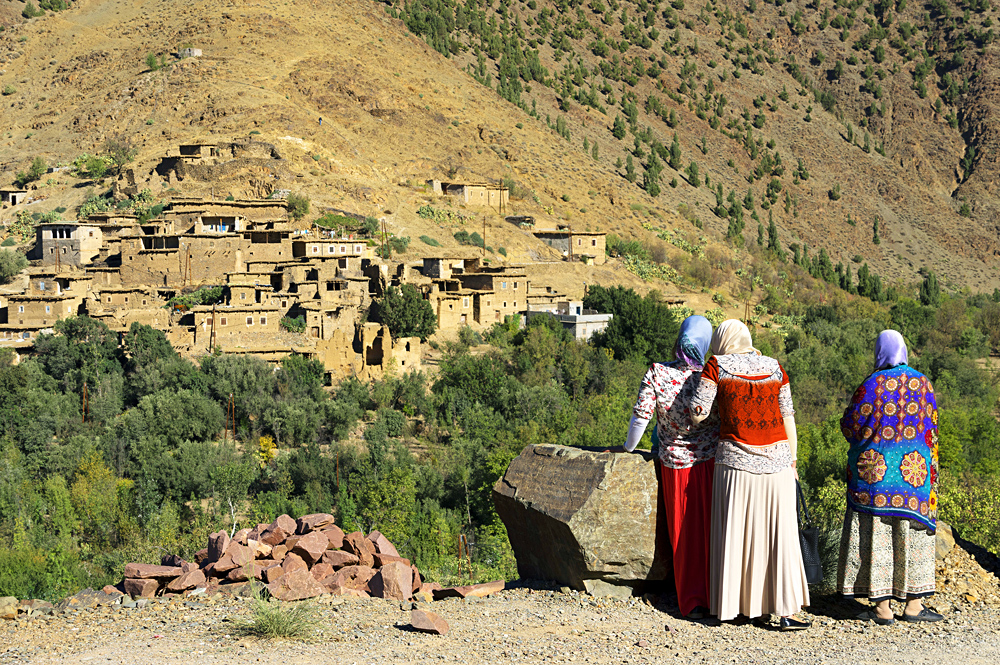Village Locals in High Atlas Mountains, Morocco, Africa