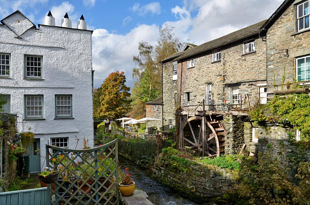 Waterwheel at Ambleside, Lake District, England, UK