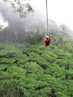 Ziplining in Monteverde, Costa Rica