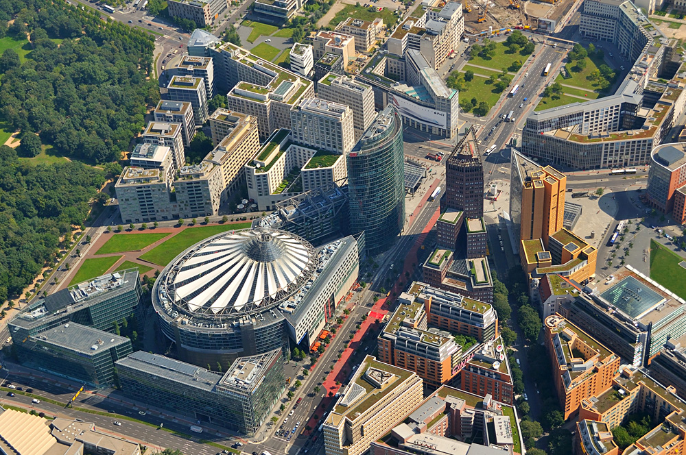 Aerial View of Potsdamer Platz, Berlin, Germany
