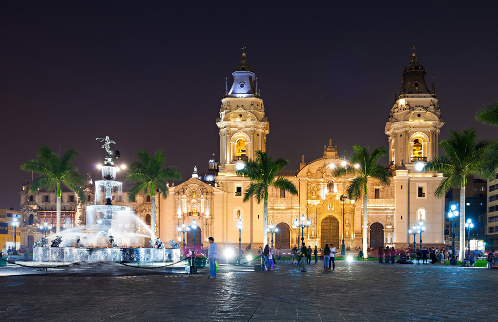 Basilica Cathedral of Lima, Peru.