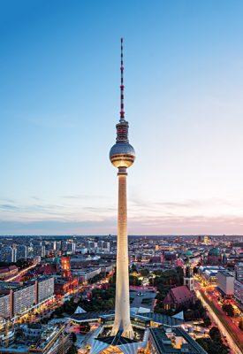 Berlin TV Tower or Fersehturm, Berlin, Germany