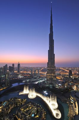 Burj Khalifa at Night, Dubai, United Arab Emirates (UAE)