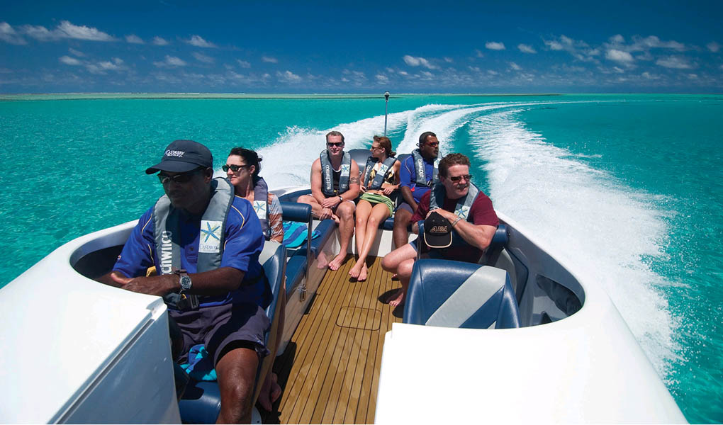 Cruising the waters off Castaway Island in Fiji