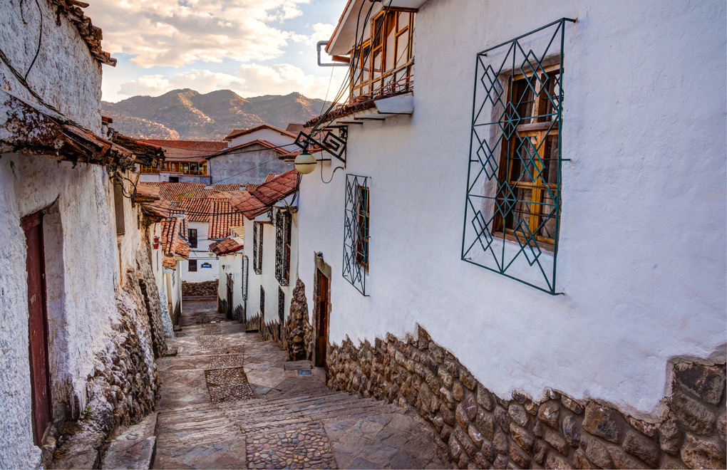 Take a walk along the cobbled laneways found throughout Cusco