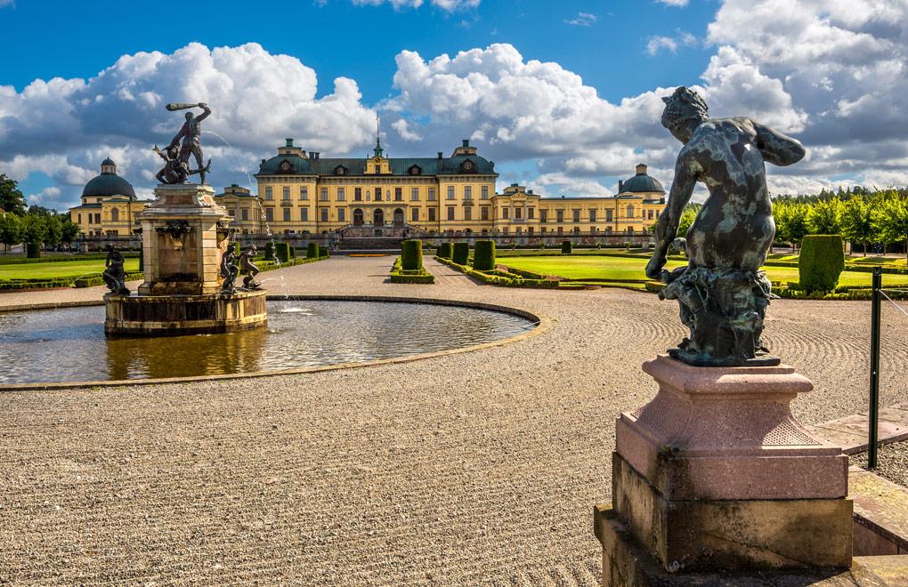 Drottningholm palace in Stockholm Sweden.