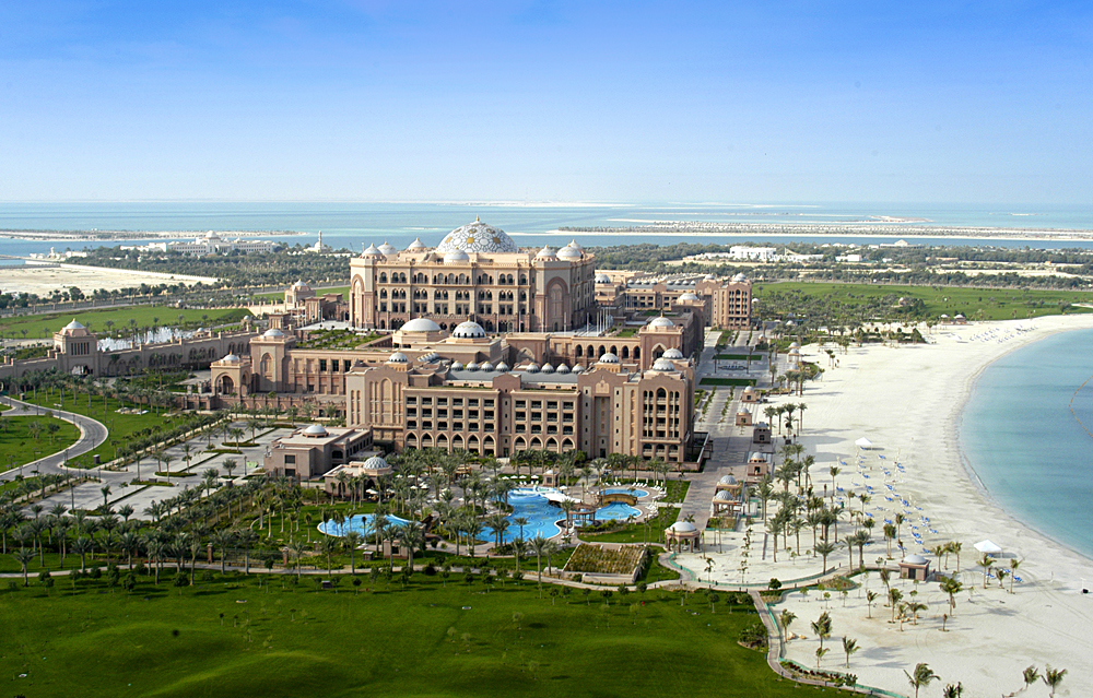 Emirates Palace and Beach, Abu Dhabi, United Arab Emirates (UAE)