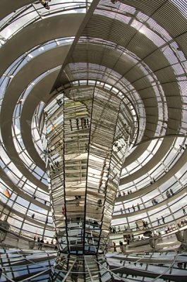 Interior View of Cupola on Top of Reichstag Building, Berlin, Germany